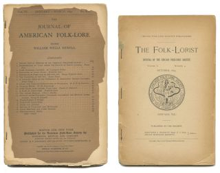 The Journal of American Folk-Lore. NATIVE AMERICAN INDIAN CULTURE