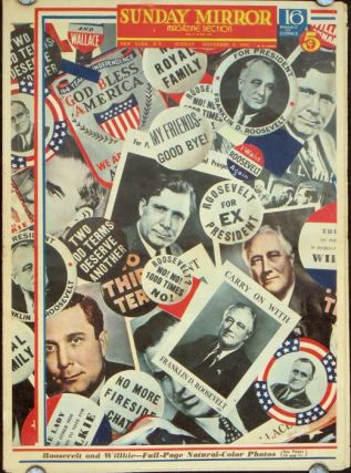 Sunday Mirror. Magazine Section. Sunday, November 3, 1940. PRESIDENTIAL ELECTION