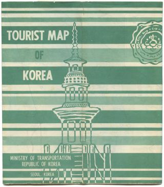 Tourist Map of Korea. Map title: Pictorial Guide to Korea.