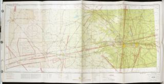 Dallas (Q-5) Sectional Aeronautical Chart. TEXAS - DALLAS/ AERONAUTICAL CHART - WORLD WAR II ERA