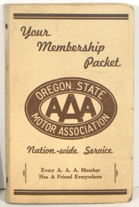 Your Membership Packet. AUTO CLUB EPHEMERA.