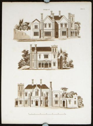Design 12. [Gothic Villa]. BRITISH ARCHITECTURE - REGENCY, Francis Goodwin