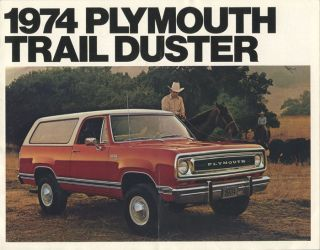 1974 Plymouth Trail Duster. PLYMOUTH