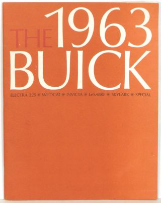 The 1963 Buick. BUICK CATALOG