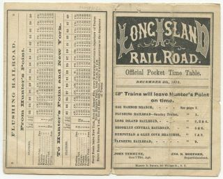 Long Island Railroad. Official Pocket Time Table. NEW YORK - LONG ISLAND - RAILROADS