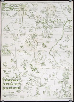 Gallatin Empire Recreation Area Bozeman, Mont. Gallatin Way to Yellowstone National Park. Map...