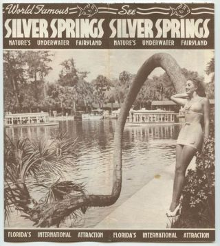 See Silver Springs. Nature's Underwater Fairyland. FLORIDA - SILVER SPRINGS