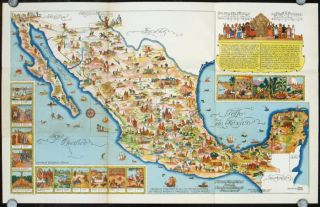 Pictorial Map of Mexico. MEXICO