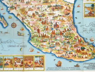 Pictorial Map of Mexico.