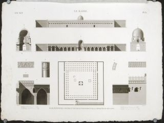 Le Kaire. Plan, Elevation, Coupes et Details d'Ornement de la Mosquee de Touloun. CAIRO -...