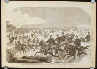 The Union Cavalry and Artillery starting in Pursuit of Rebels up the Yorktown Turnpike. -17