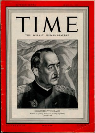 Time The Weekly Newsmagazine. 1941 - 04 - 21. WORLD WAR TWO