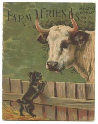 Farm Friends. VINTAGE CHROMO CHILDREN'S BOOKLET