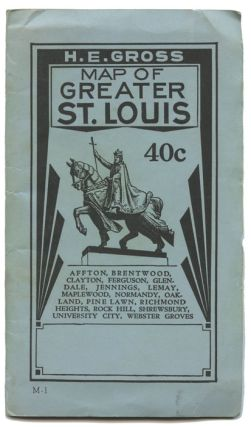 Map of Greater St. Louis Afton...Webster Groves. MISSOURI - ST. LOUIS