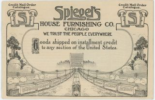 Spiegel's Credit Mail Order Catalogue. 1905 INSTALLMENT FURNISHINGS CATALOGUE