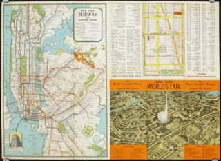A Map of the World's Fair and New York City