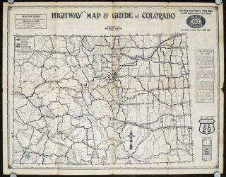 Highway Map and Guide of Colorado. COLORADO