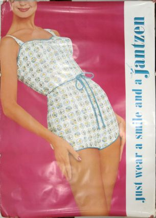 Just wear a smile and a Jantzen. [VINTAGE POSTER]. JANTZEN SWIMWEAR - PORTLAND OREGON