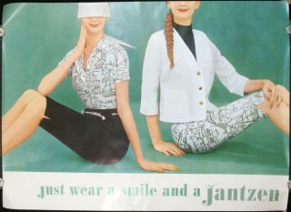 just wear a smile and a Jantzen. [VINTAGE POSTER]. JANTZEN - PORTLAND OREGON