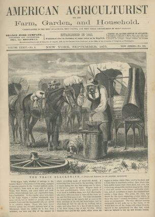 """The Train Blacksmith"" in American Agriculturist. W. M. CARY."