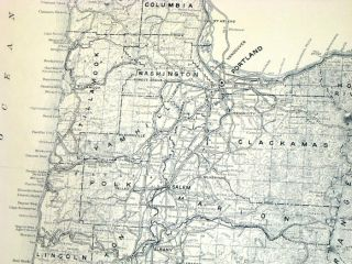 Map of State of Oregon Showing State Highway System.