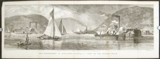 A View On the Hudson River. Art Supplement to Appletons' Journal. HORSE RACING - NEW YORK