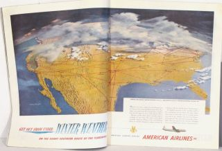 The Saturday Evening Post. January 5, 1952. AMERICAN AIRLINES