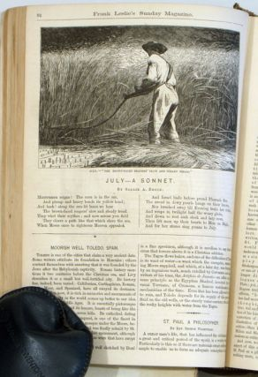 Frank Leslie's Sunday Magazine. 1877 BOUND VOLUME, July to December. Containing Winslow Homer...