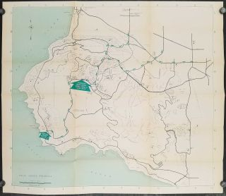 Map of the Palos Verdes Peninsula with Complete Street Map of Grandview Palos Verdes. CALIFORNIA...