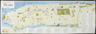 Illustrated Map of the City of New York in Full Color. NEW YORK - NEW YORK CITY