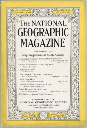 The National Geographic Magazine. 1937 - 12. CHINA - GUANGXI PROVINCE / CANTON, G. Weidman...