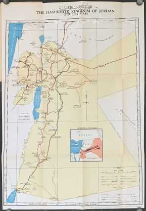 Jordan. The Holy Land. Guide Map of Jerusalem. Tourist Map of Jordan. Map titles: The Hashemite...