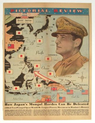 How Japan's Mongol Hordes Can Be Defeated. Pictorial Review Herald American, Sunday, December 5, 1943.