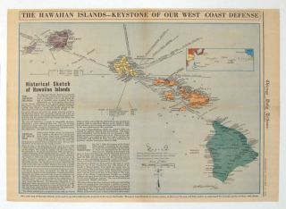 The Hawaiian Islands - Keystone of Our West Coast Defense. Published in the Chicago Daily...