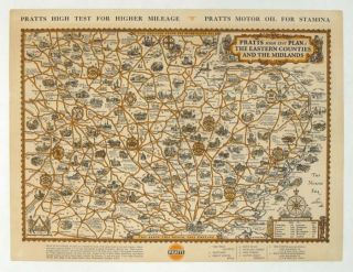 Pratts High Test Plan of The Eastern Counties and the Midlands. ENGLAND - LONDON, SOUTHEAST