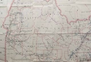 Post Route Map of the State of Idaho...