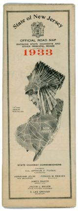 State of New Jersey Official Road Map Showing State Highways and Other Principal Roads 1933. NEW...