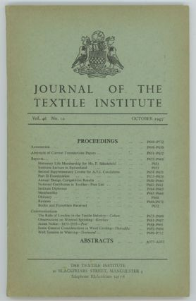 Journal of the Textile Institute. TEXTILES