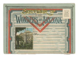 Souvenir of the Wonders of Arizona. ARIZONA