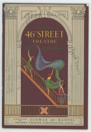 """Good News"" Chanin's Forty-Sixth Street Theatre. VINTAGE THEATRE PROGRAM, Laurence Schwab, B. G...."