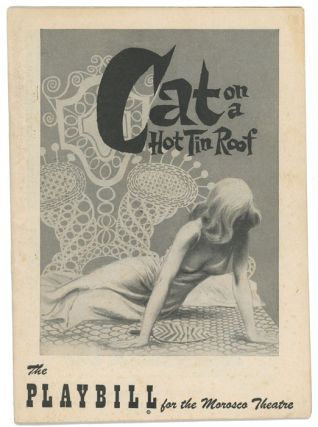 Cat On A Hot Tin Roof. THEATRE PROGRAM, Tennessee Williams