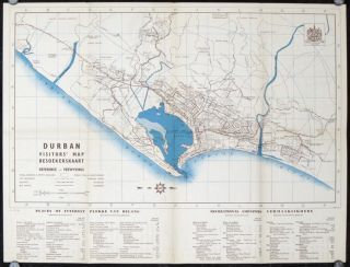 Durban Visitors Map & Guide (Besoekerskaart en-Gids). SOUTH AFRICA - DURBAN