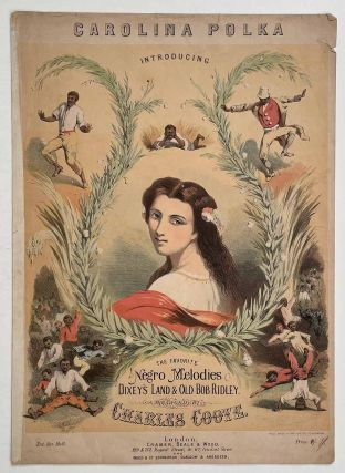 Carolina Polka (the Favorite Negro Melodies). VICTORIAN SHEET MUSIC COVER, Charles Coote