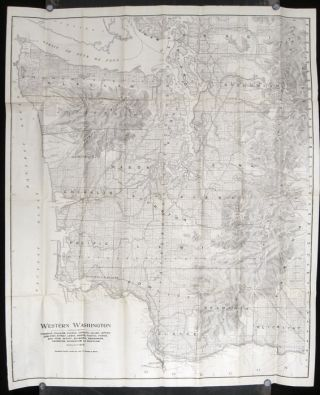 Sectional Land Map of Western Washington Embracing the Pacific Coast Region Puget Sound Country. ...