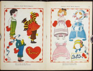 Children's Play Mate Magazine. PAPER DOLLS - VALENTINE'S DAY.