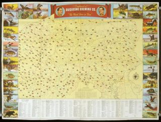 Duquesne Hunting and Fishing Map. PENNSYLVANIA GAME MAP
