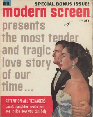 Vintage Movie Magazines. ELISABETH TAYLOR.
