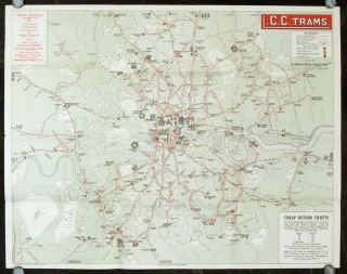 Map and Guide L. C. C. Trams.