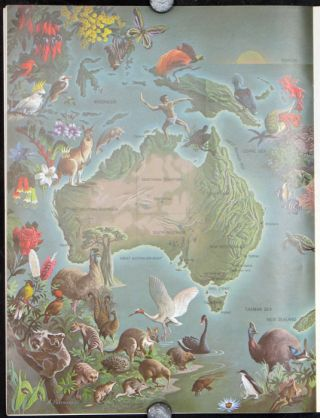 "Untitled pictorial map of Australia in Summer 1966 issue of ""The Lamp."" AUSTRALIA"