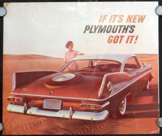If It's New Plymouth's Got It! PLYMOUTH 3-PANEL ADVERTISING BROCHURE.